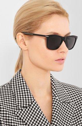 Женские солнцезащитные очки DIOR черного цвета, арт. BLACKTIE268S 807 | Фото 2