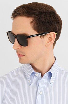 Мужские солнцезащитные очки DIOR коричневого цвета, арт. DI0RB24.2F 086 | Фото 2