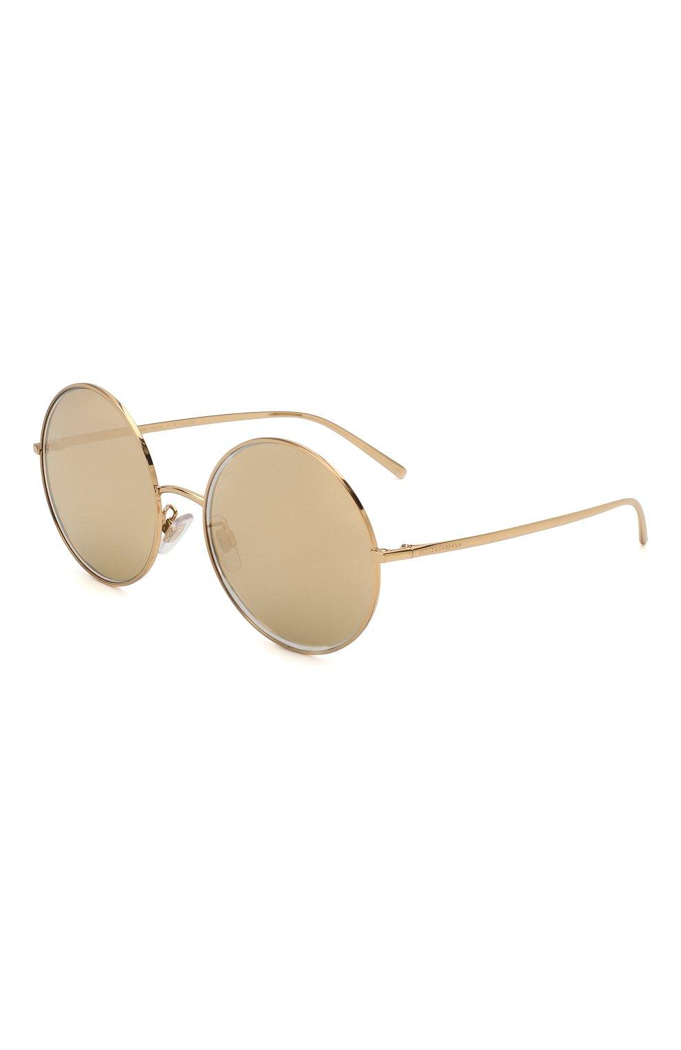 Женские солнцезащитные очки DOLCE & GABBANA золотого цвета, арт. 2215K-K02/F9   Фото 1