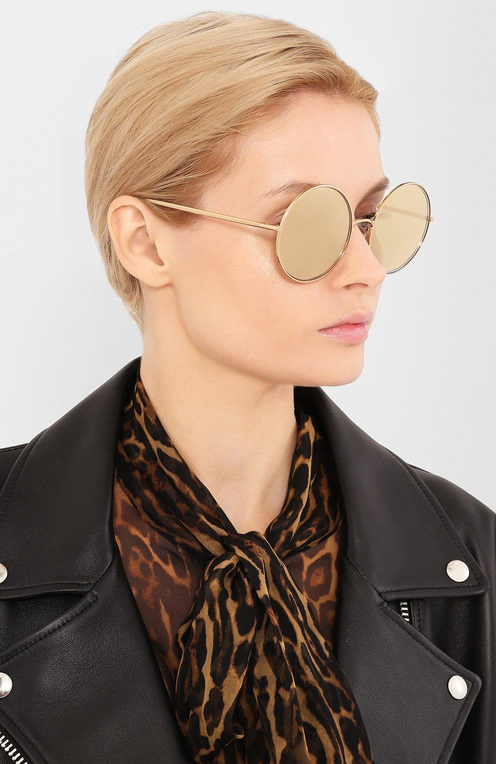 Женские солнцезащитные очки DOLCE & GABBANA золотого цвета, арт. 2215K-K02/F9   Фото 2