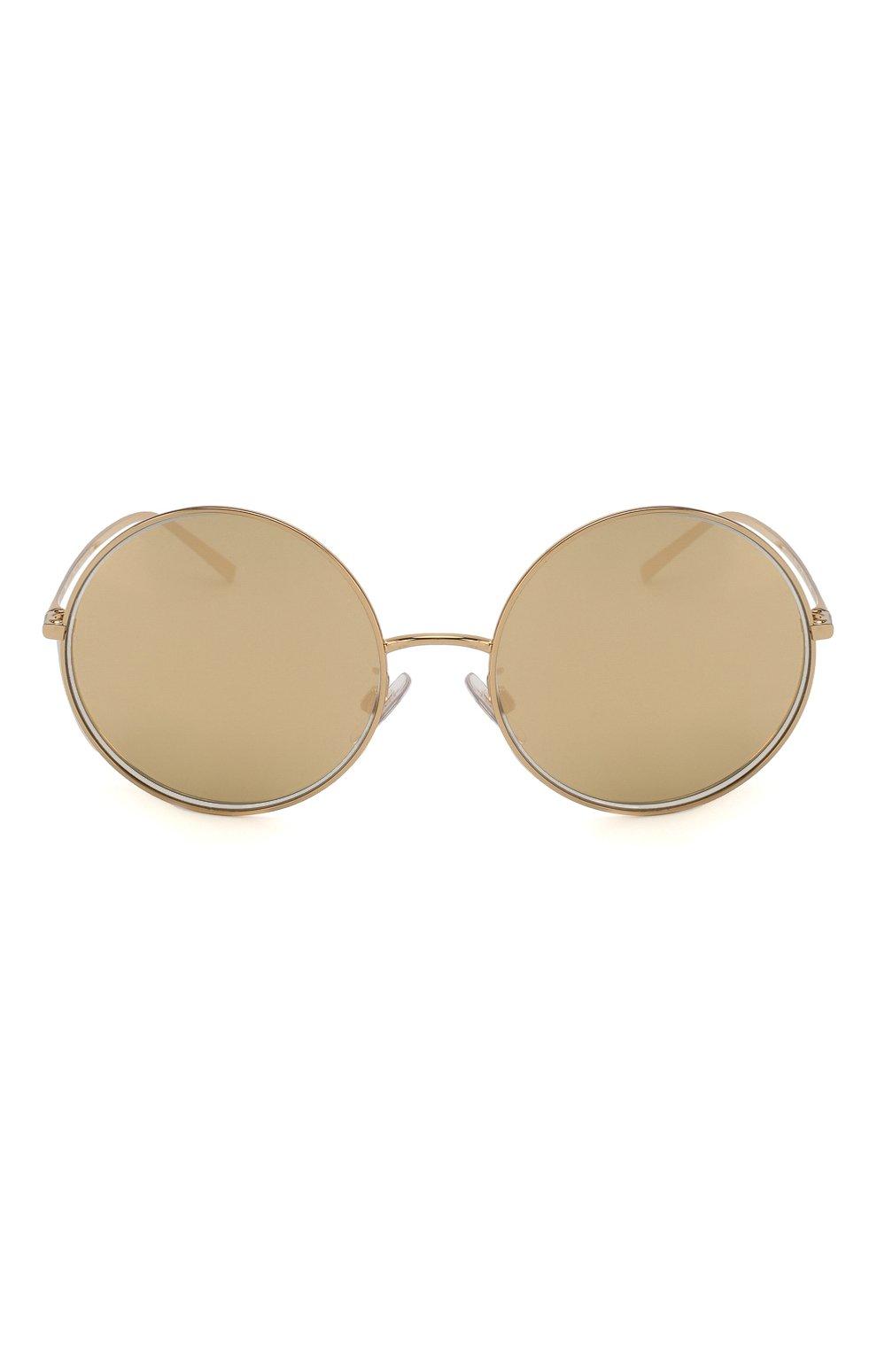 Женские солнцезащитные очки DOLCE & GABBANA золотого цвета, арт. 2215K-K02/F9   Фото 3