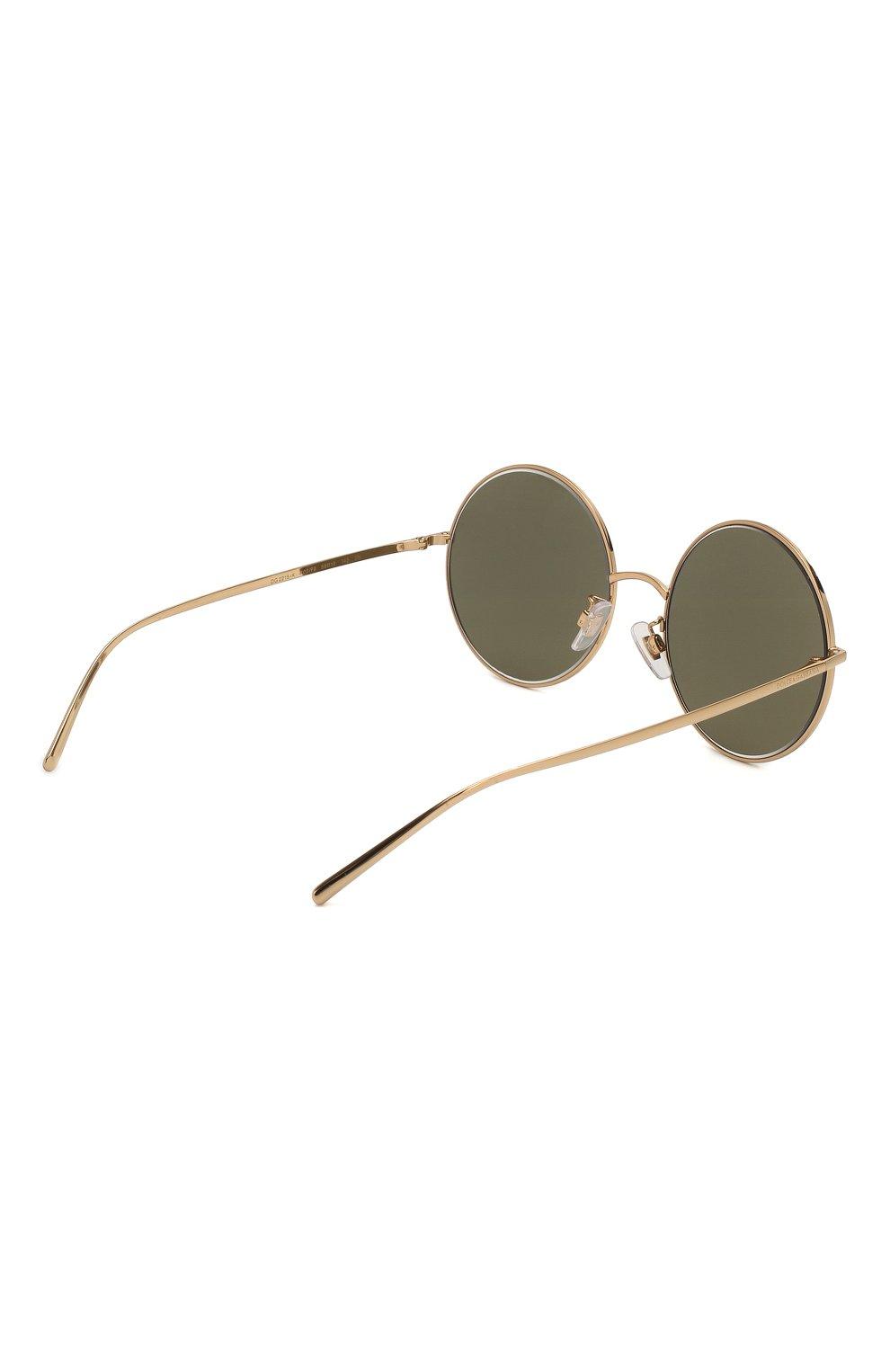 Женские солнцезащитные очки DOLCE & GABBANA золотого цвета, арт. 2215K-K02/F9   Фото 4