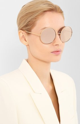 Женские солнцезащитные очки DOLCE & GABBANA розового цвета, арт. 2215K-K03/5R | Фото 2