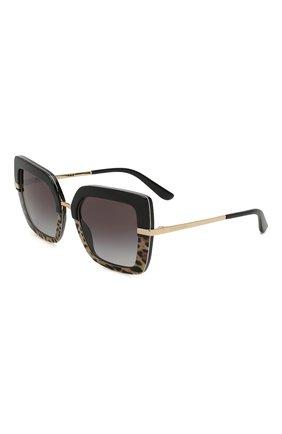 Мужские солнцезащитные очки DOLCE & GABBANA леопардового цвета, арт. 4373-32448G | Фото 1