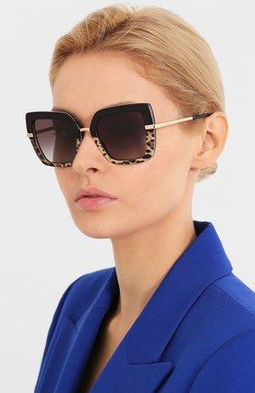 Мужские солнцезащитные очки DOLCE & GABBANA леопардового цвета, арт. 4373-32448G | Фото 2