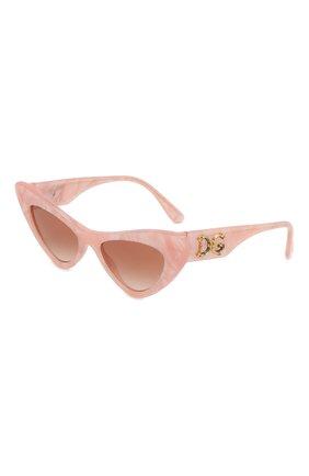 Мужские солнцезащитные очки DOLCE & GABBANA розового цвета, арт. 4368-323113 | Фото 1