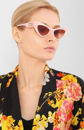 Мужские солнцезащитные очки DOLCE & GABBANA розового цвета, арт. 4368-323113 | Фото 2