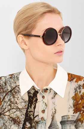 Женские солнцезащитные очки DOLCE & GABBANA черного цвета, арт. 6127-550/8G   Фото 2