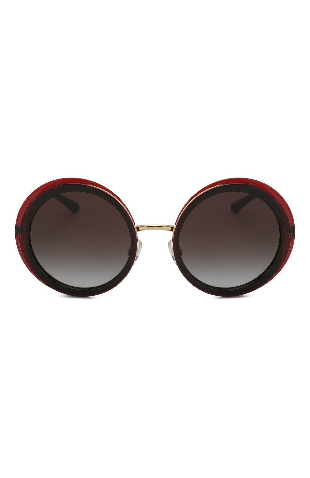 Женские солнцезащитные очки DOLCE & GABBANA черного цвета, арт. 6127-550/8G   Фото 3