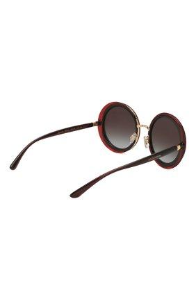 Женские солнцезащитные очки DOLCE & GABBANA черного цвета, арт. 6127-550/8G   Фото 4