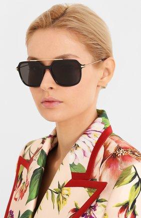 Женские солнцезащитные очки DOLCE & GABBANA черного цвета, арт. 6129-501/87   Фото 2