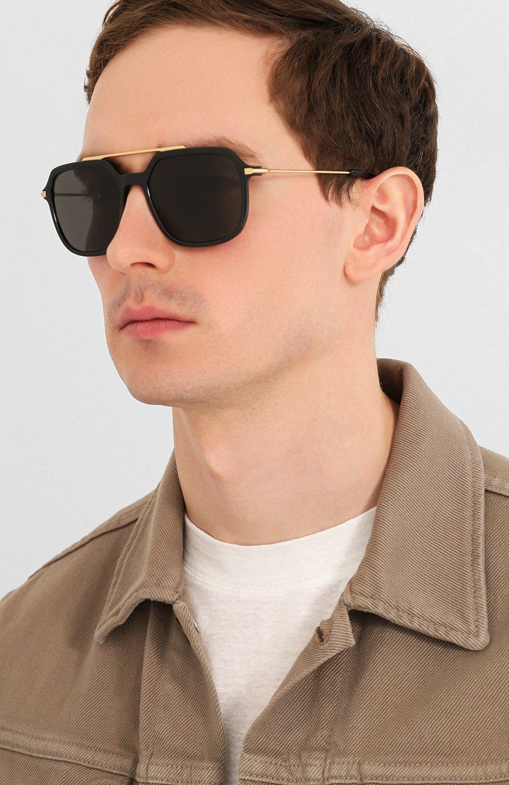 Женские солнцезащитные очки DOLCE & GABBANA черного цвета, арт. 6129-501/87   Фото 3