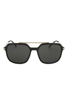 Женские солнцезащитные очки DOLCE & GABBANA черного цвета, арт. 6129-501/87   Фото 4
