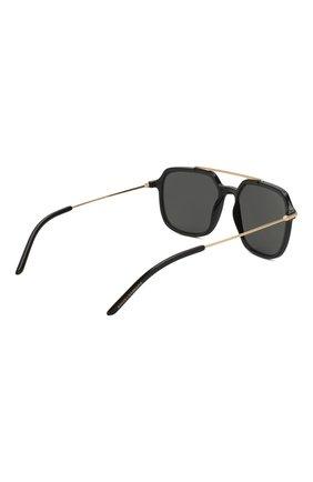 Женские солнцезащитные очки DOLCE & GABBANA черного цвета, арт. 6129-501/87   Фото 5