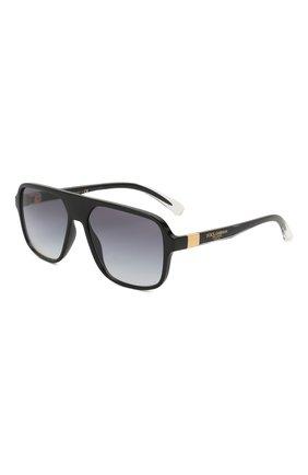 Мужские солнцезащитные очки DOLCE & GABBANA черного цвета, арт. 6134-675/79 | Фото 1