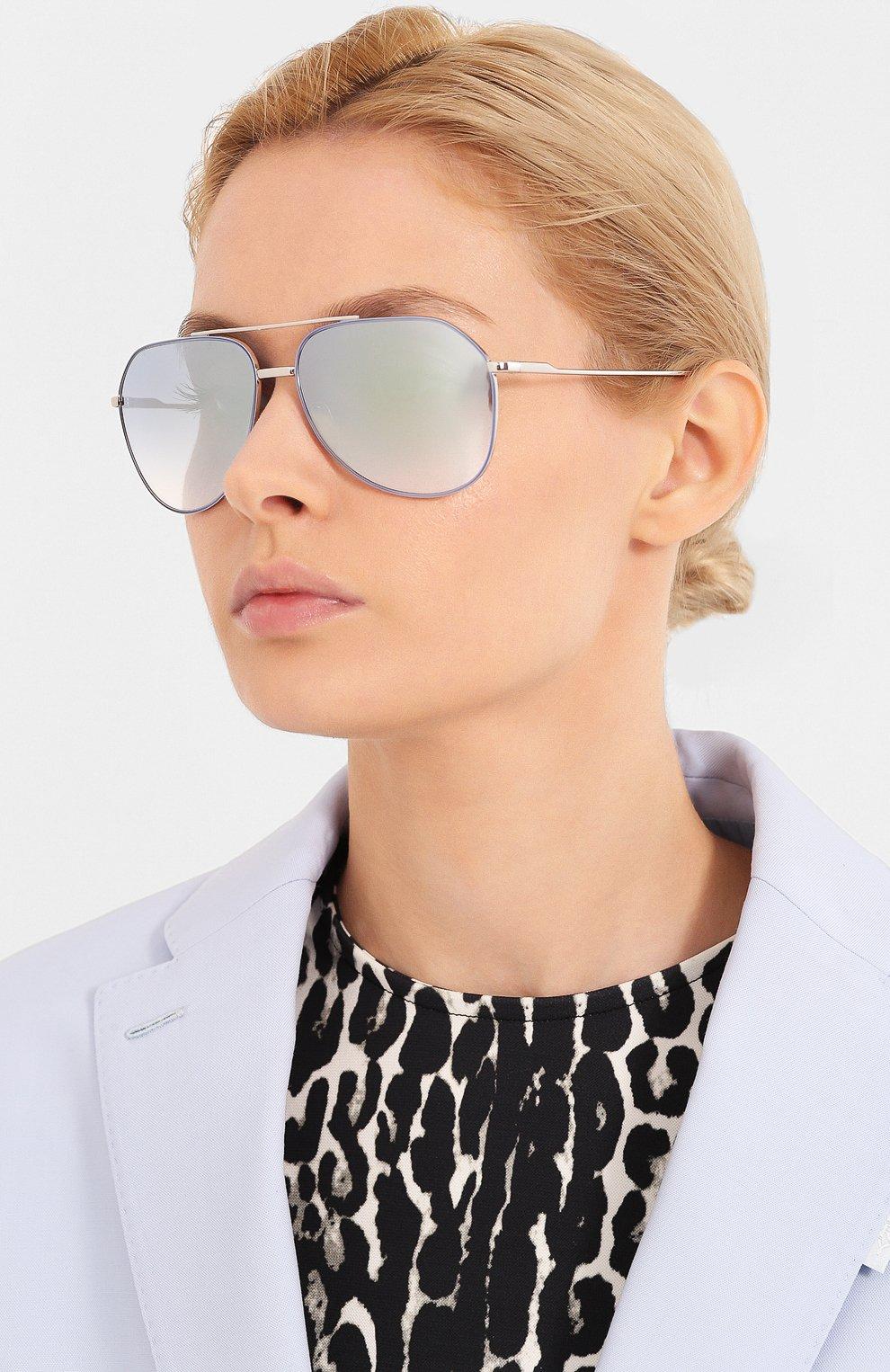 Женские солнцезащитные очки DOLCE & GABBANA голубого цвета, арт. 2166-1325V6   Фото 2