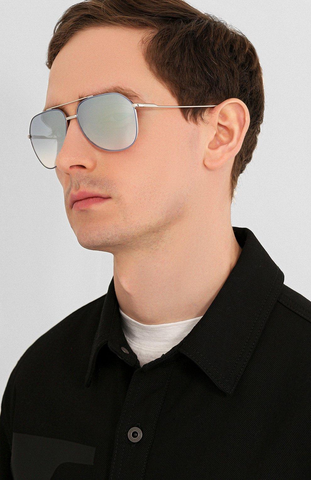 Женские солнцезащитные очки DOLCE & GABBANA голубого цвета, арт. 2166-1325V6   Фото 3