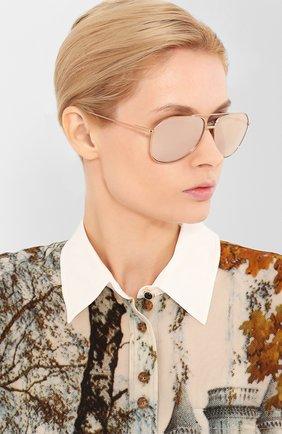 Женские солнцезащитные очки DOLCE & GABBANA золотого цвета, арт. 2166-K03/5R | Фото 2