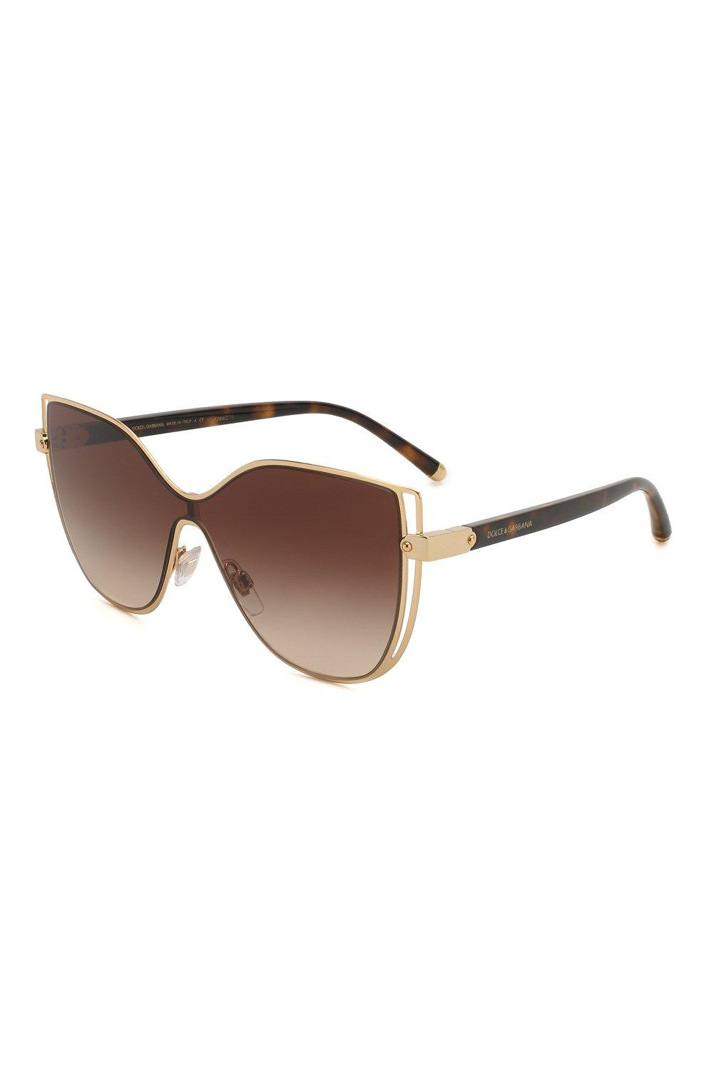 Женские солнцезащитные очки DOLCE & GABBANA коричневого цвета, арт. 2236-02/13 | Фото 1