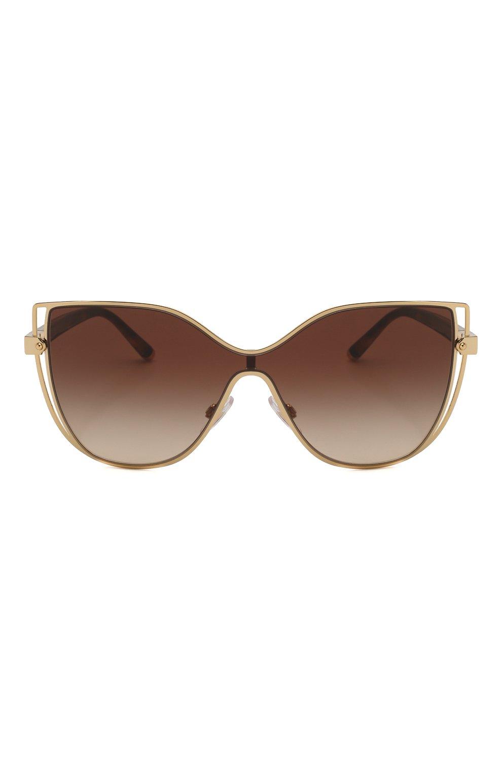 Женские солнцезащитные очки DOLCE & GABBANA коричневого цвета, арт. 2236-02/13 | Фото 3