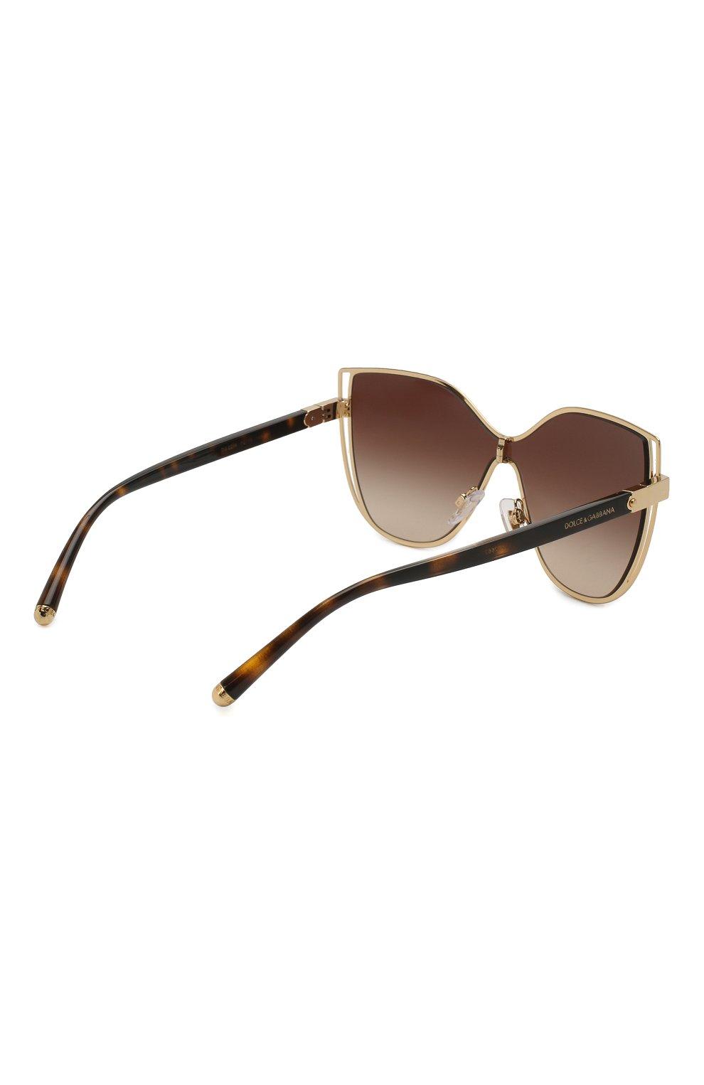 Женские солнцезащитные очки DOLCE & GABBANA коричневого цвета, арт. 2236-02/13 | Фото 4