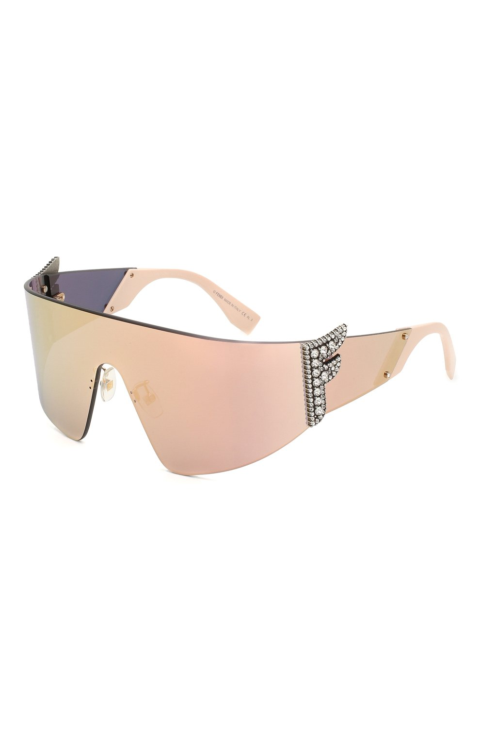 Женские солнцезащитные очки FENDI розового цвета, арт. 0382 35J   Фото 1