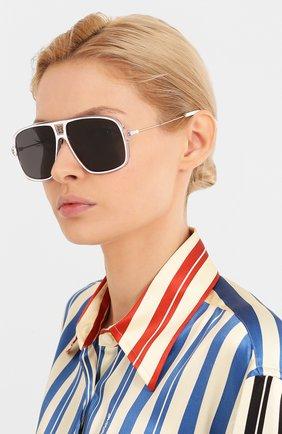 Женские солнцезащитные очки GIVENCHY белого цвета, арт. 7138 P9U | Фото 2