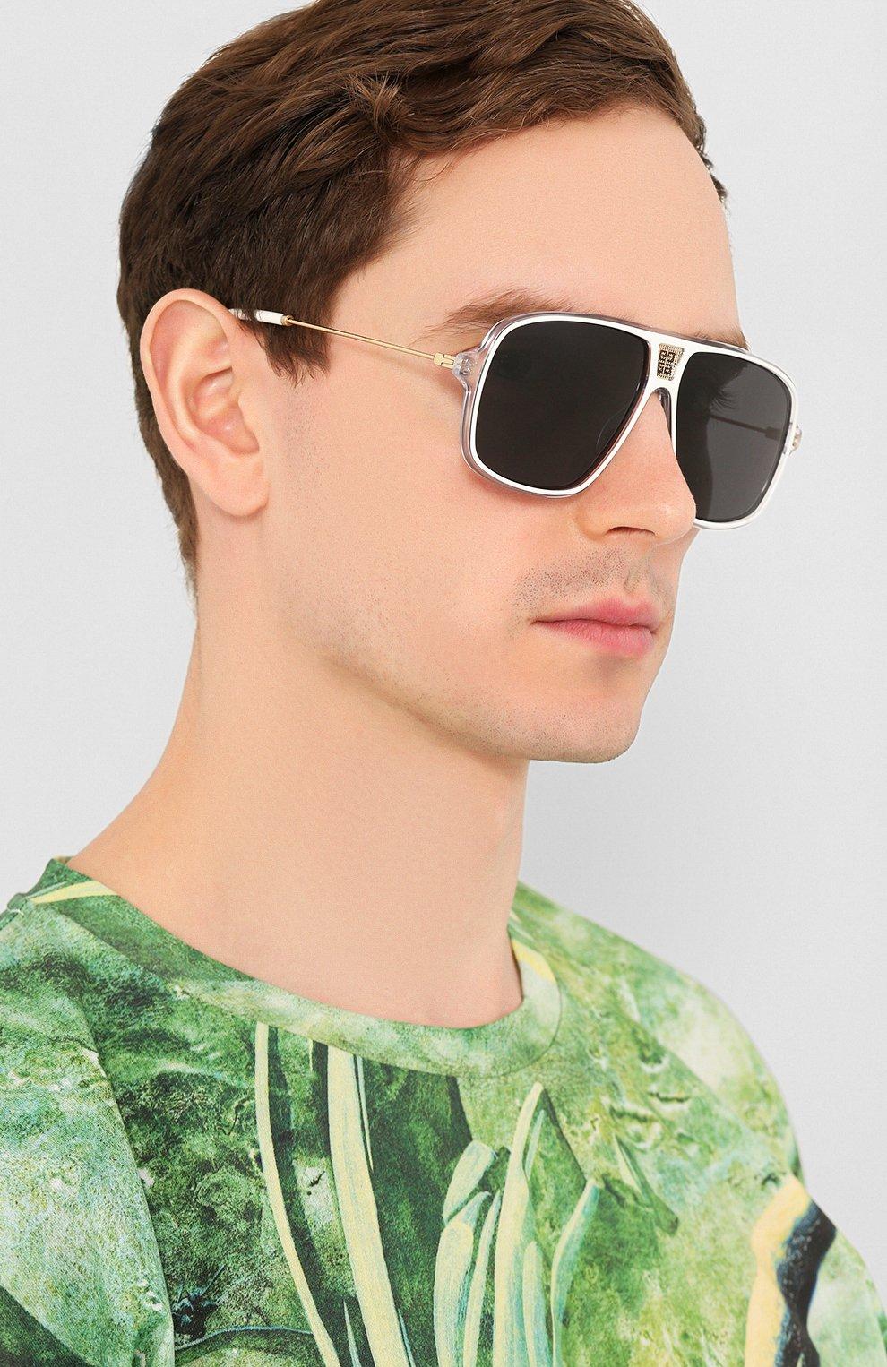 Женские солнцезащитные очки GIVENCHY белого цвета, арт. 7138 P9U | Фото 3
