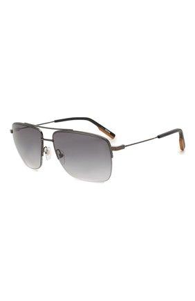 Мужские солнцезащитные очки ERMENEGILDO ZEGNA серого цвета, арт. EZ0138 08B | Фото 1