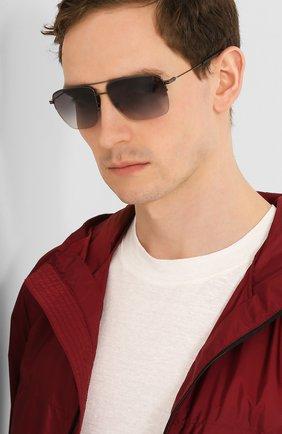 Мужские солнцезащитные очки ERMENEGILDO ZEGNA серого цвета, арт. EZ0138 08B | Фото 2