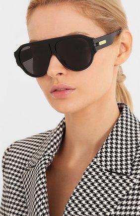 Женские солнцезащитные очки GUCCI черного цвета, арт. GG0665S 001   Фото 2