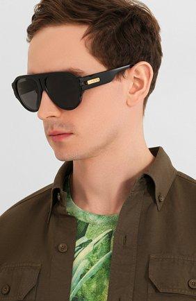 Женские солнцезащитные очки GUCCI черного цвета, арт. GG0665S 001   Фото 3