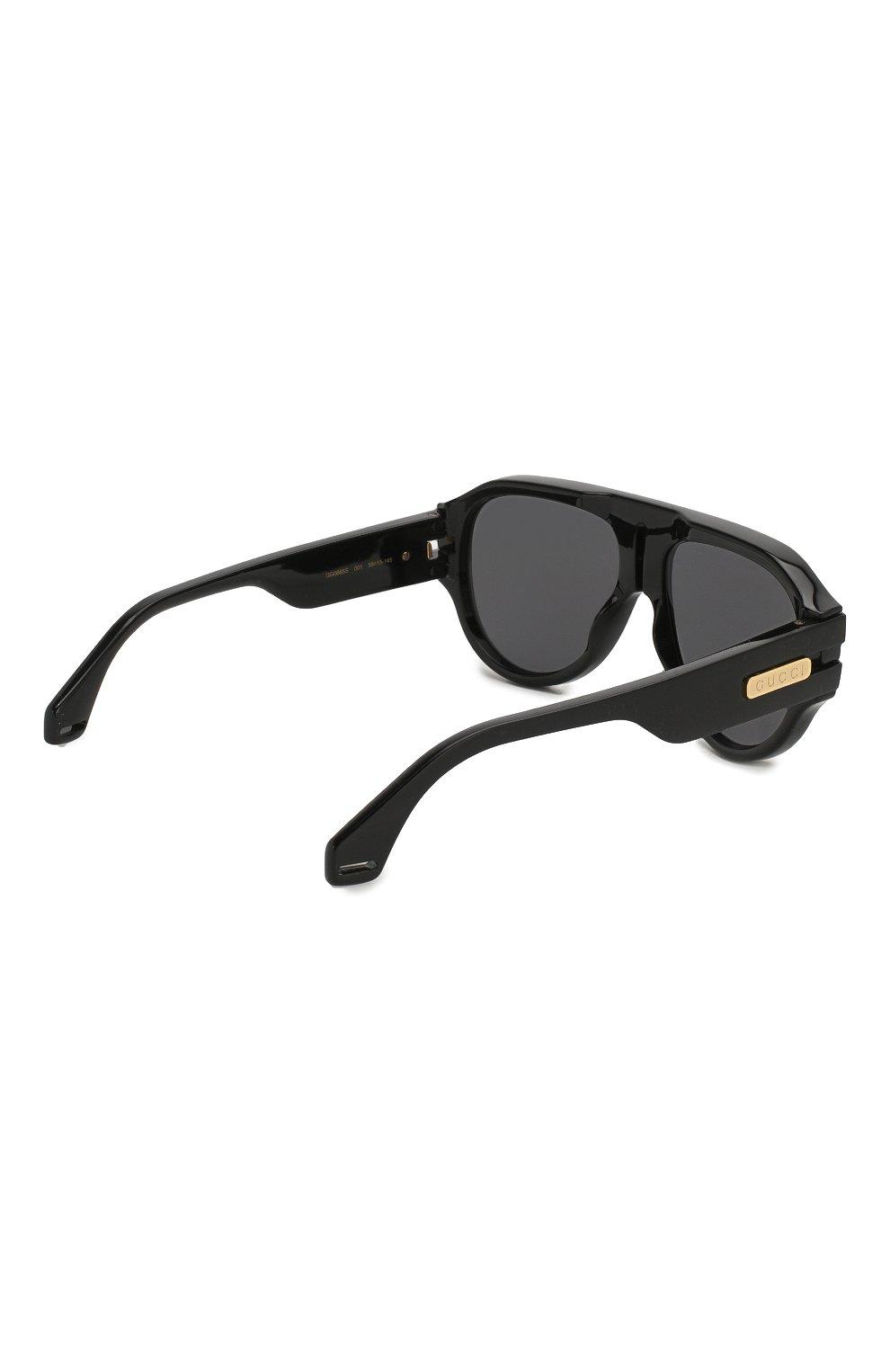 Женские солнцезащитные очки GUCCI черного цвета, арт. GG0665S 001   Фото 5