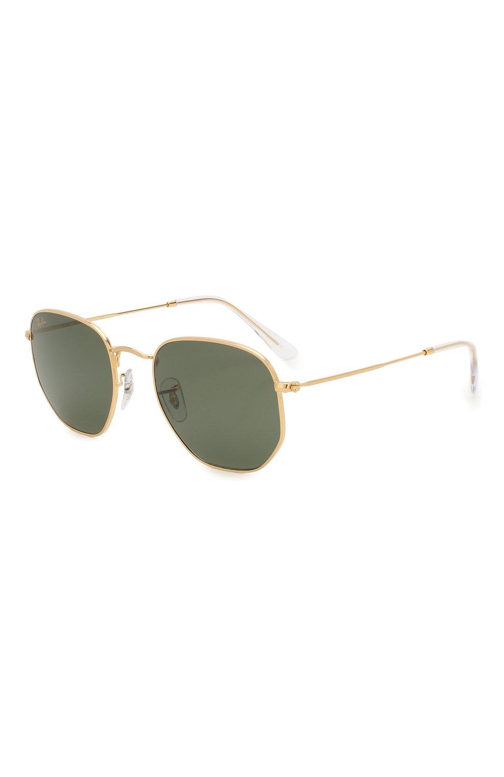 Женские солнцезащитные очки RAY-BAN зеленого цвета, арт. 3548-919631 | Фото 1