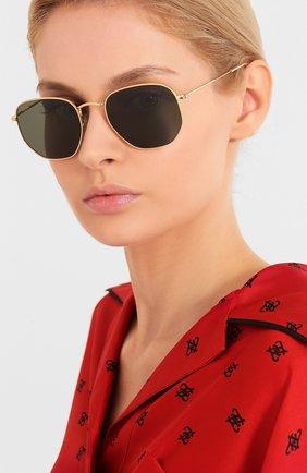 Женские солнцезащитные очки RAY-BAN зеленого цвета, арт. 3548-919631 | Фото 2