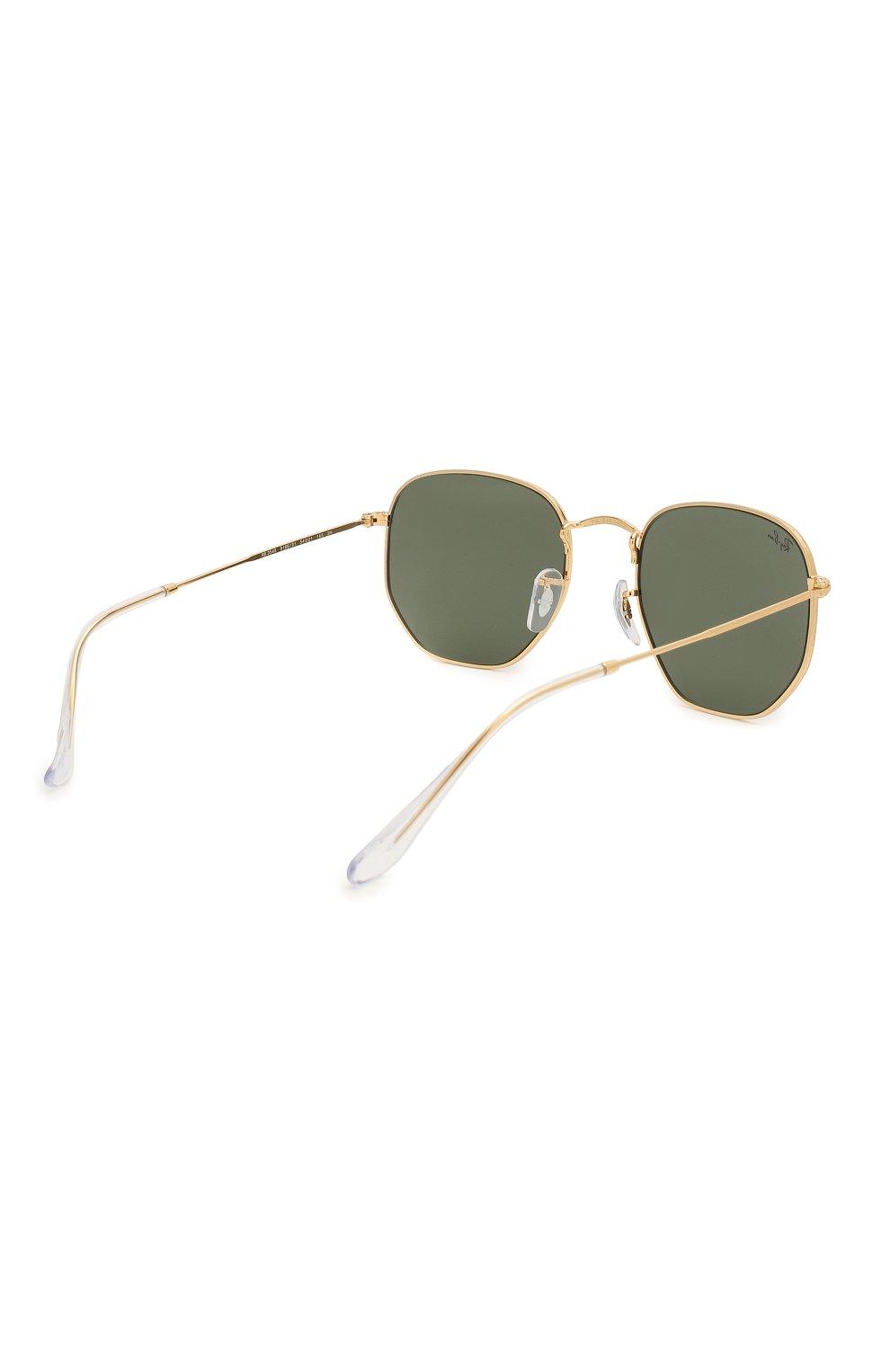 Женские солнцезащитные очки RAY-BAN зеленого цвета, арт. 3548-919631 | Фото 5