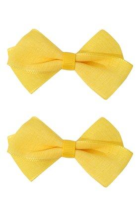 Детская комплект из 2-х заколок JUNEFEE желтого цвета, арт. 6482 | Фото 1