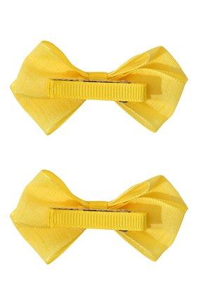 Детская комплект из 2-х заколок JUNEFEE желтого цвета, арт. 6482 | Фото 2