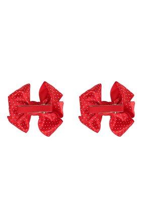 Детская комплект из 2-х заколок JUNEFEE красного цвета, арт. 6216 | Фото 2