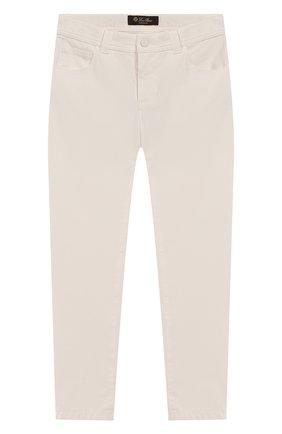 Детские джинсы LORO PIANA белого цвета, арт. FAI9364 | Фото 1