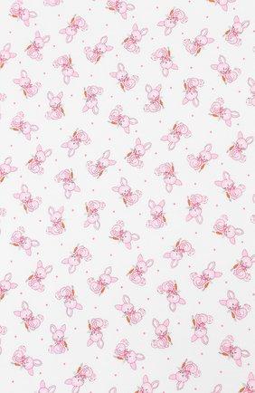 Детского хлопковая пеленка MAGNOLIA BABY розового цвета, арт. 755-80P-PK   Фото 2