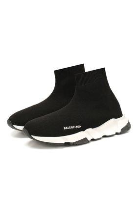 Детские кроссовки BALENCIAGA черно-белого цвета, арт. 597425/W1702 | Фото 1