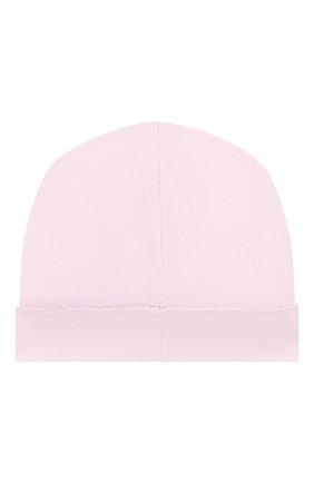 Детского хлопковая шапка KISSY KISSY розового цвета, арт. 34606 | Фото 2
