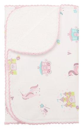 Детского хлопковая пеленка KISSY KISSY розового цвета, арт. KG3044500   Фото 1