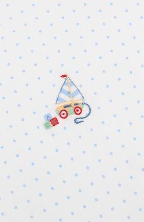 Детского хлопковая пеленка MAGNOLIA BABY голубого цвета, арт. 837-52-LB | Фото 2