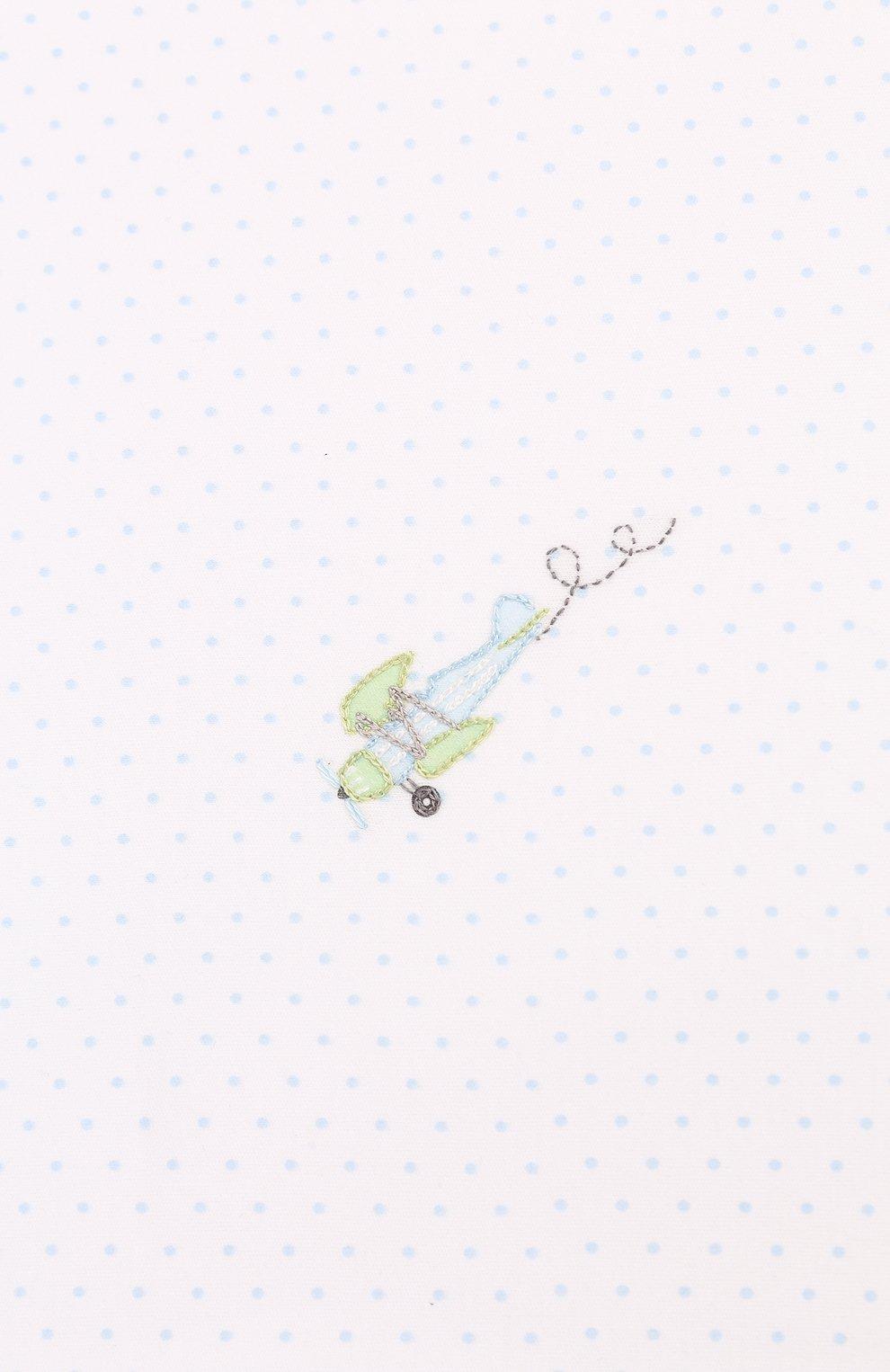 Детского хлопковая пеленка MAGNOLIA BABY голубого цвета, арт. 597-52-LB | Фото 2 (Материал: Текстиль, Хлопок)