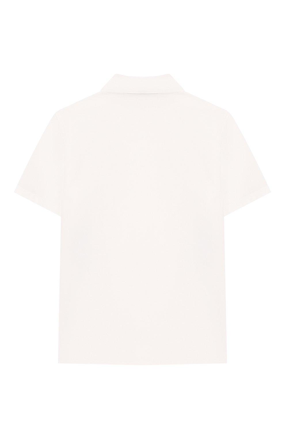 Детский хлопковая рубашка VERSACE белого цвета, арт. YB000113/A230231 | Фото 2