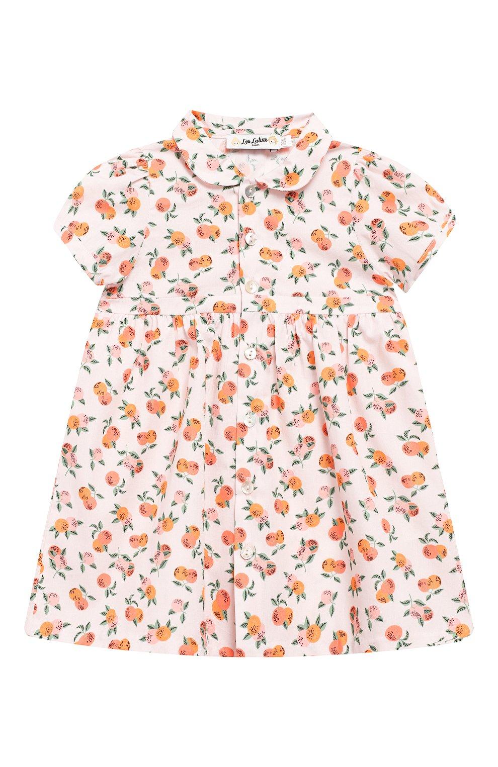 Женский хлопковое платье LES LUTINS розового цвета, арт. 20E174/Z0E MC   Фото 1