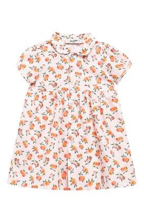 Женский хлопковое платье LES LUTINS розового цвета, арт. 20E174/Z0E MC | Фото 1