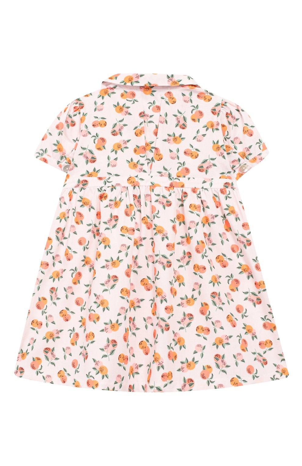 Женский хлопковое платье LES LUTINS розового цвета, арт. 20E174/Z0E MC   Фото 2